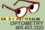 Dr. D. C. Patterson, Optometry