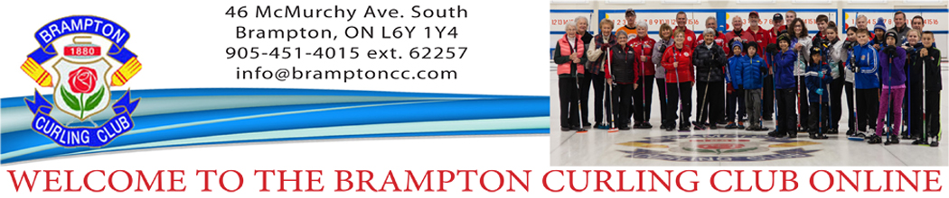 Brampton Curling Club banner